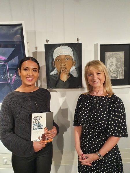 Salma wins internship at the Aldridge Signature Junior Art exhibition - Preview Image