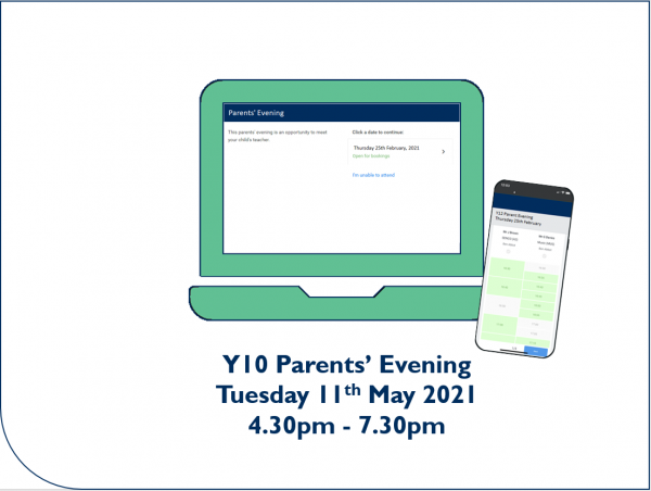 Y10 Parents' Evening booking open - Preview Image