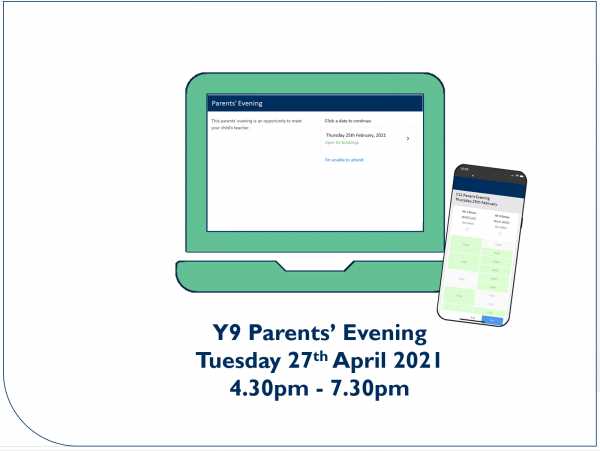 Y9 Parents' Evening booking open - Preview Image
