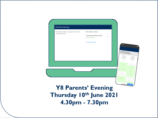 Y8 Parents' Evening appointment booking now open - Preview Image