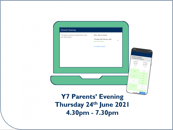 Y7 Parents' Evening appointment booking now open - Preview Image