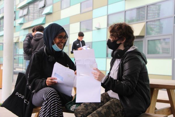 Students and staff celebrate GCSE results day - Preview Image